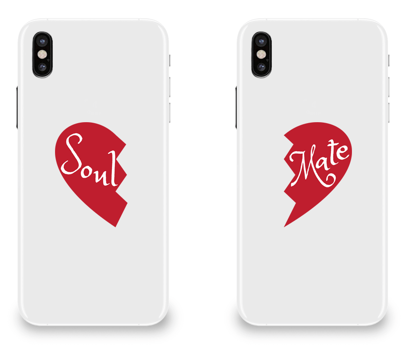 Soul and Mate - Couple Matching iPhone X Cases