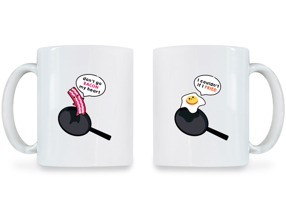 Bacon and Egg - Couple Coffee Mugs