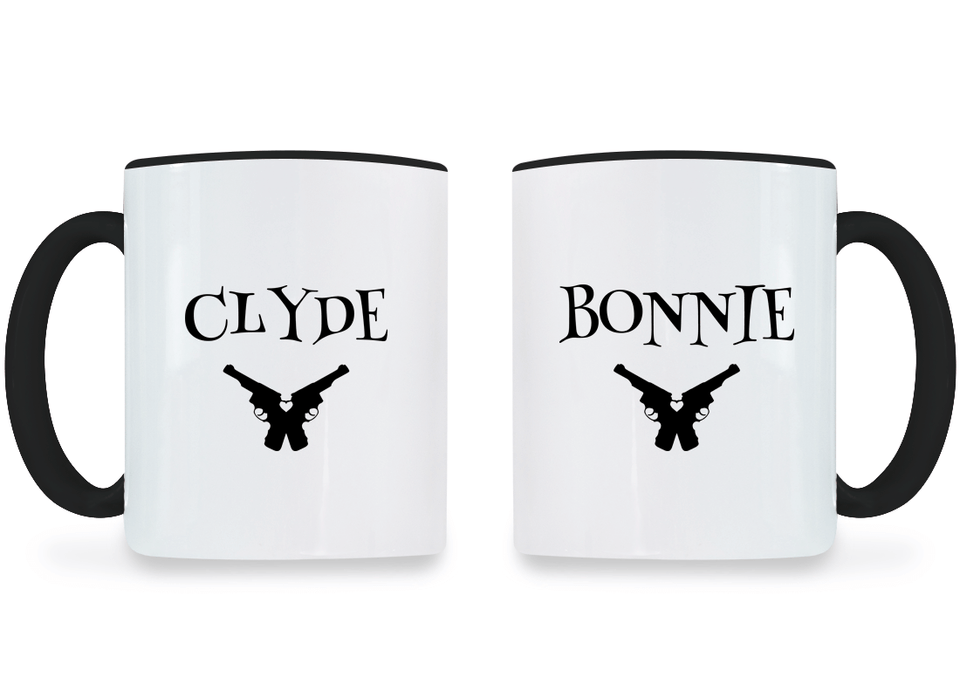 Clyde and Bonnie - Couple Coffee Mugs