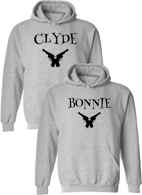 Clyde & Bonnie Matching Couple Hoodies