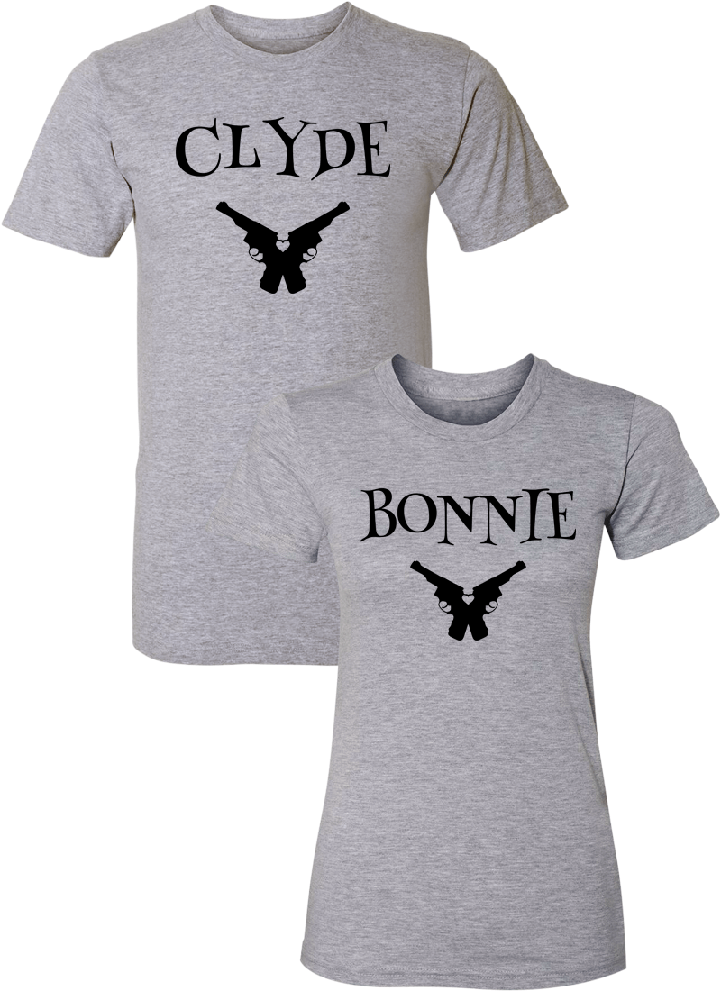 Clyde & Bonnie Couple Matching Shirts
