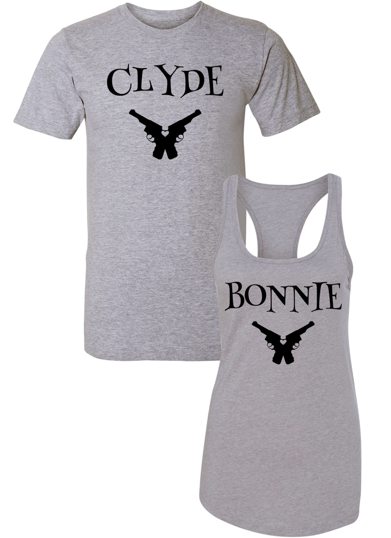 Clyde & Bonnie - Couple Shirt Racerback