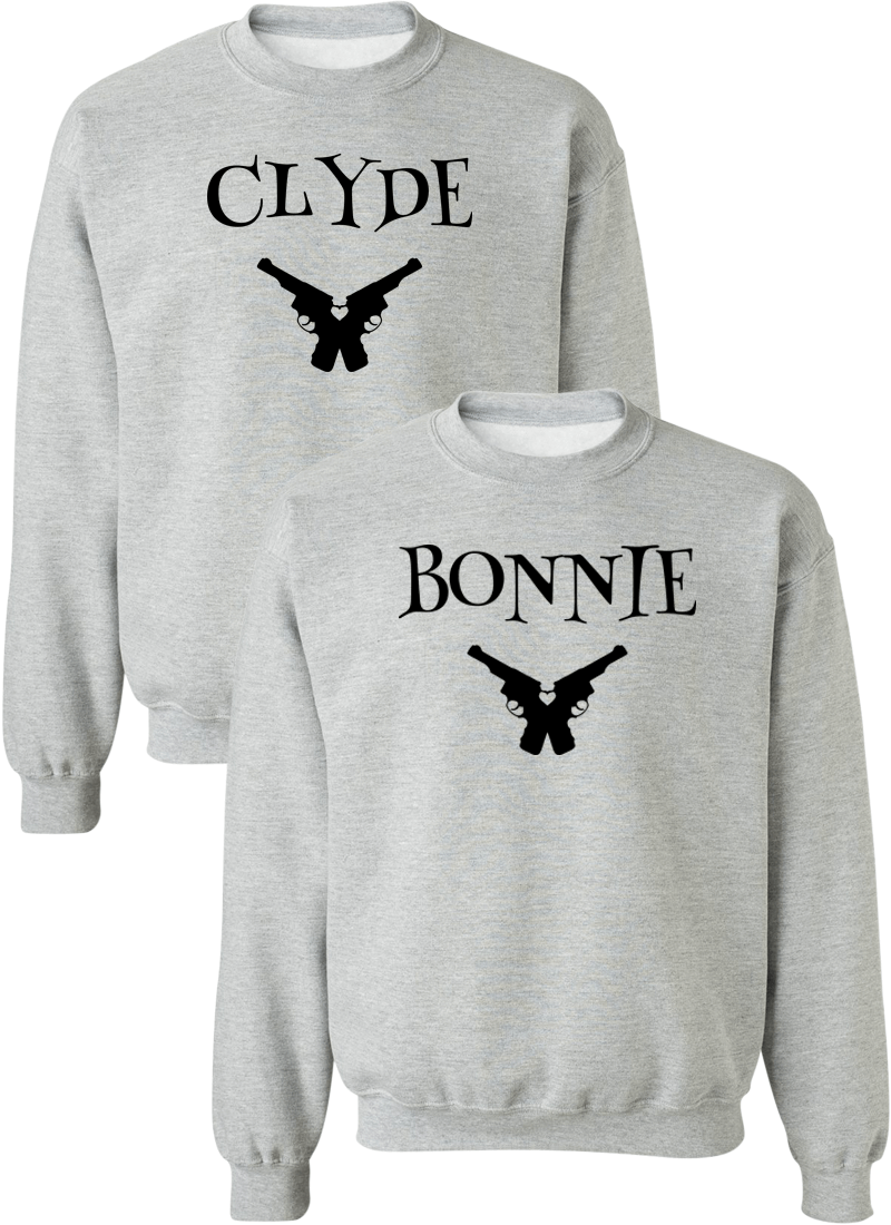 Clyde & Bonnie Couple Matching Sweatshirts
