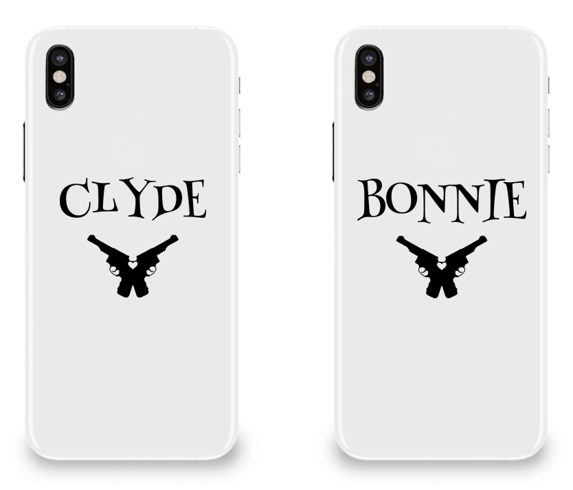 Clyde & Bonnie - Couple Matching iPhone X Cases