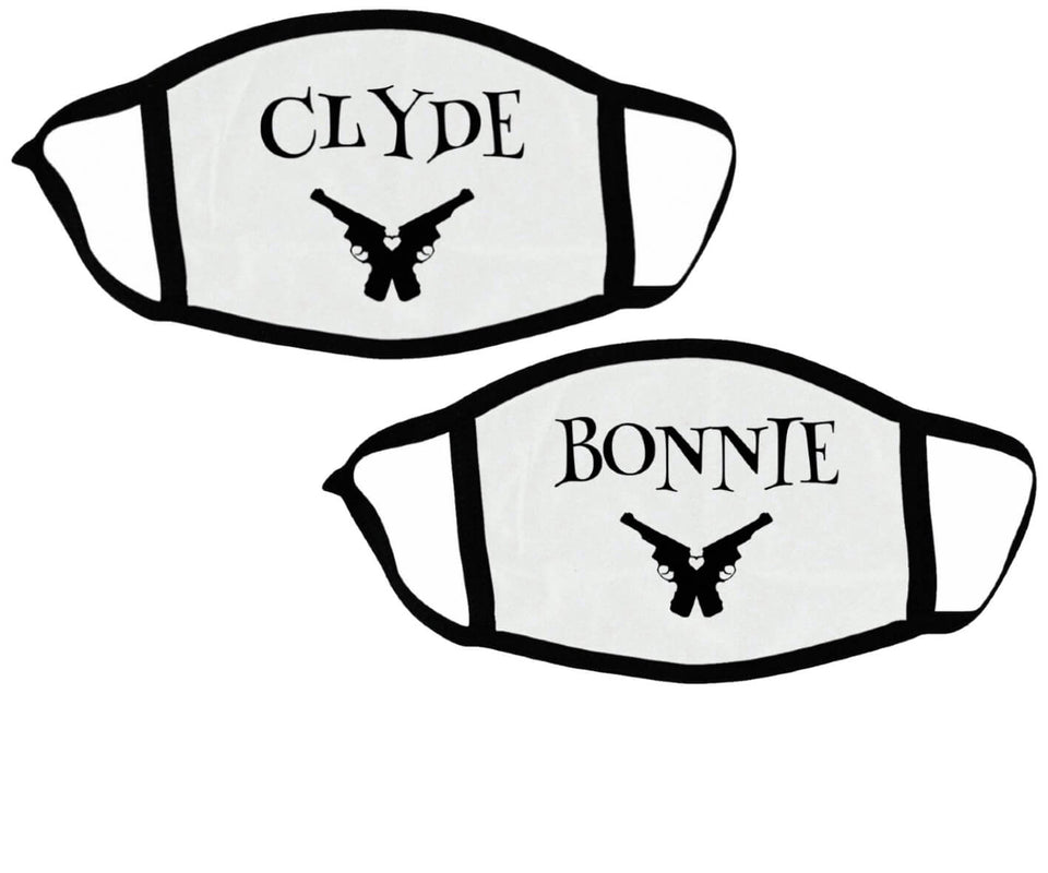 Clyde & Bonnie - Couple Face Masks