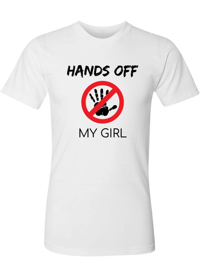 Hands Off My Girl & Boy - Couple Shirt & Racerback