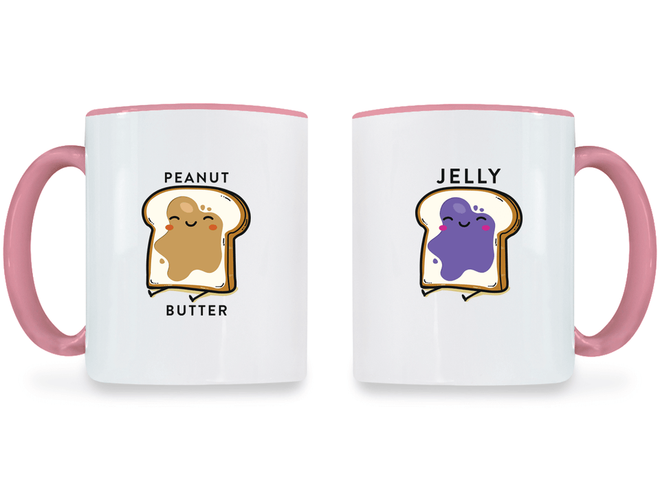 Peanut Butter & Jelly Best Friend - BFF Coffee Mugs