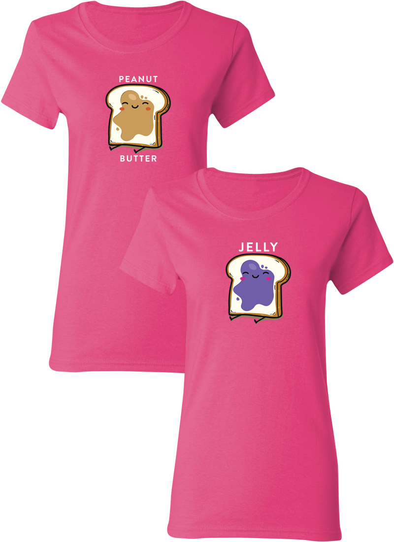 Peanut Butter & Jelly Best Friend BFF Matching Shirts