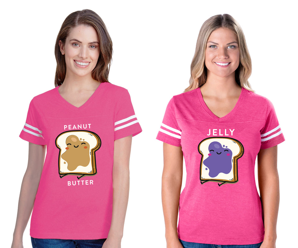 Peanut Butter & Jelly Best Friend - BFF Cotton Jerseys