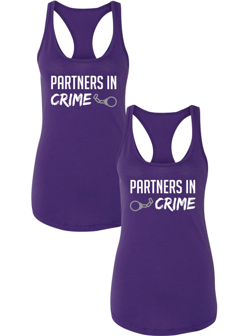 Partners In Crime Best Friend BFF Matching Racerbacks