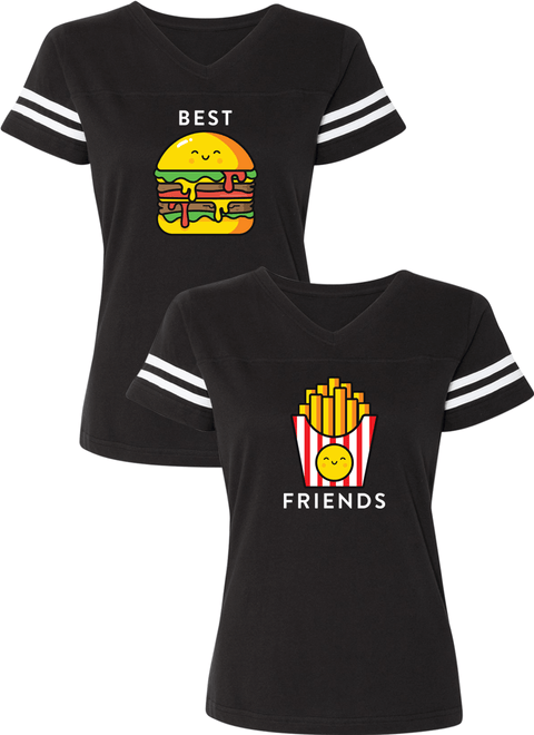 Burger & Fries Best Friend BFF Matching Jersey