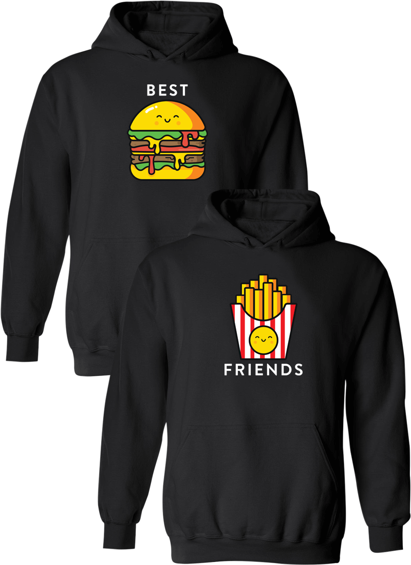 Burger & Fries Best Friend BFF Matching Hoodies