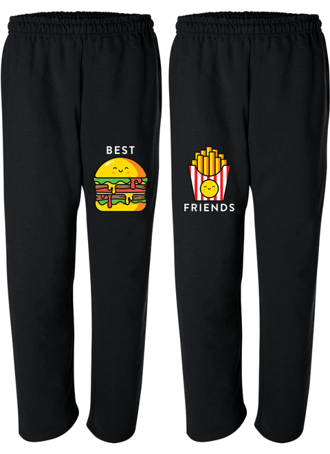 Burger & Fries Best Friend - BFF Matching Sweatpants