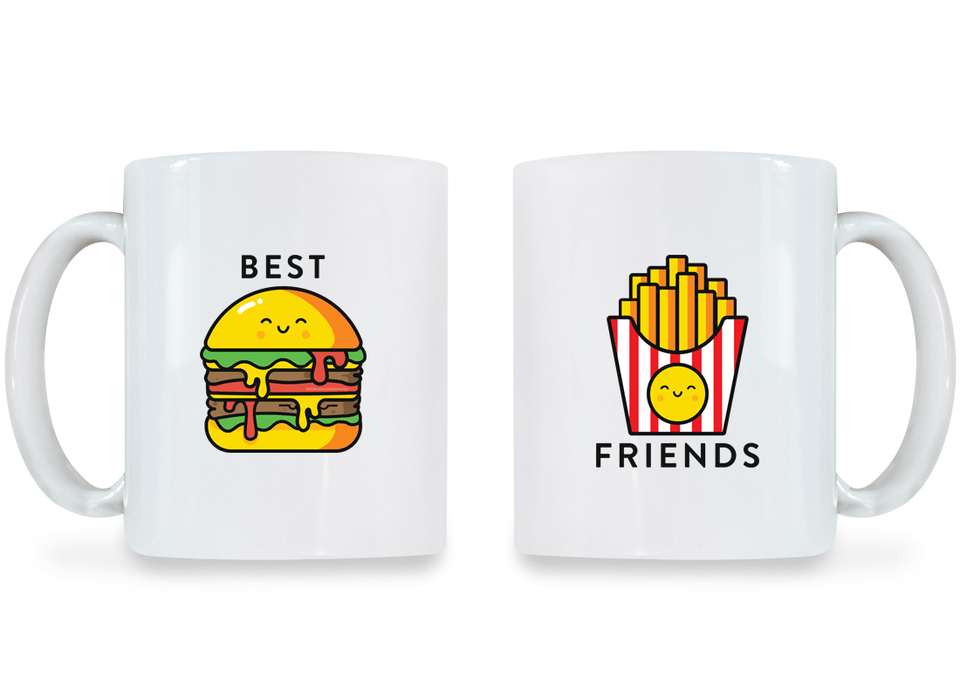 Burger & Fries Best Friend - BFF Coffee Mugs