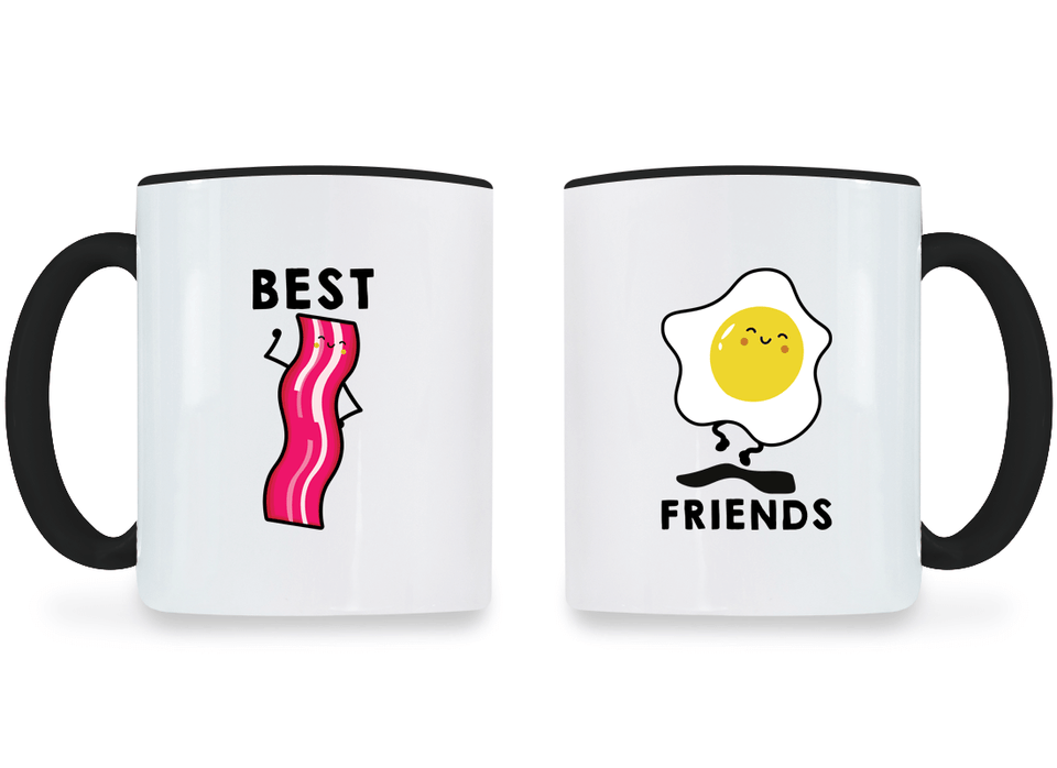 Bacon & Egg Best Friend - BFF Coffee Mugs