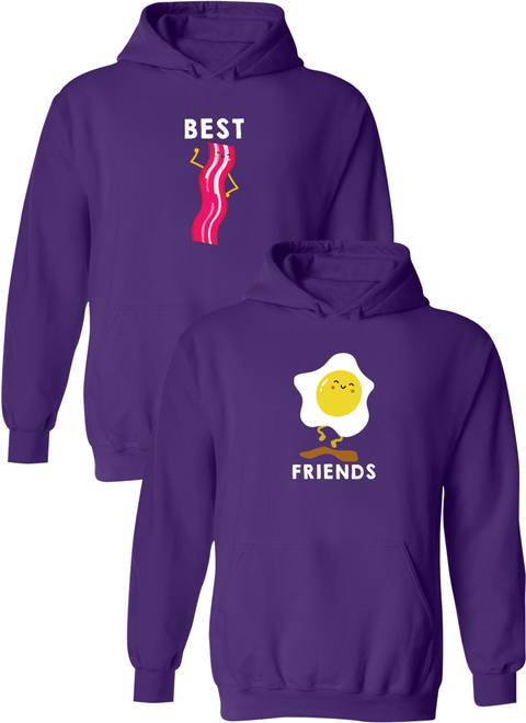 Bacon & Egg Best Friend BFF Matching Hoodies