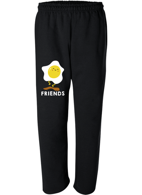 Bacon & Egg Best Friend - Best Friend Forever Matching Sweatpants