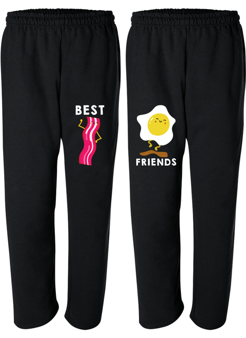 Bacon & Egg Best Friend - BFF Matching Sweatpants