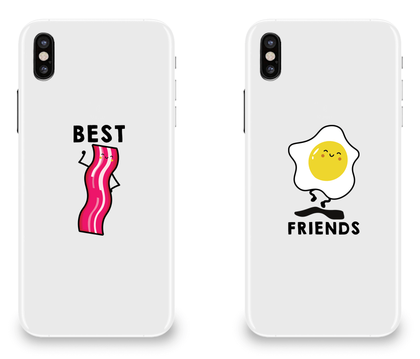 Bacon & Egg Best Friend - BFF Matching iPhone X Cases