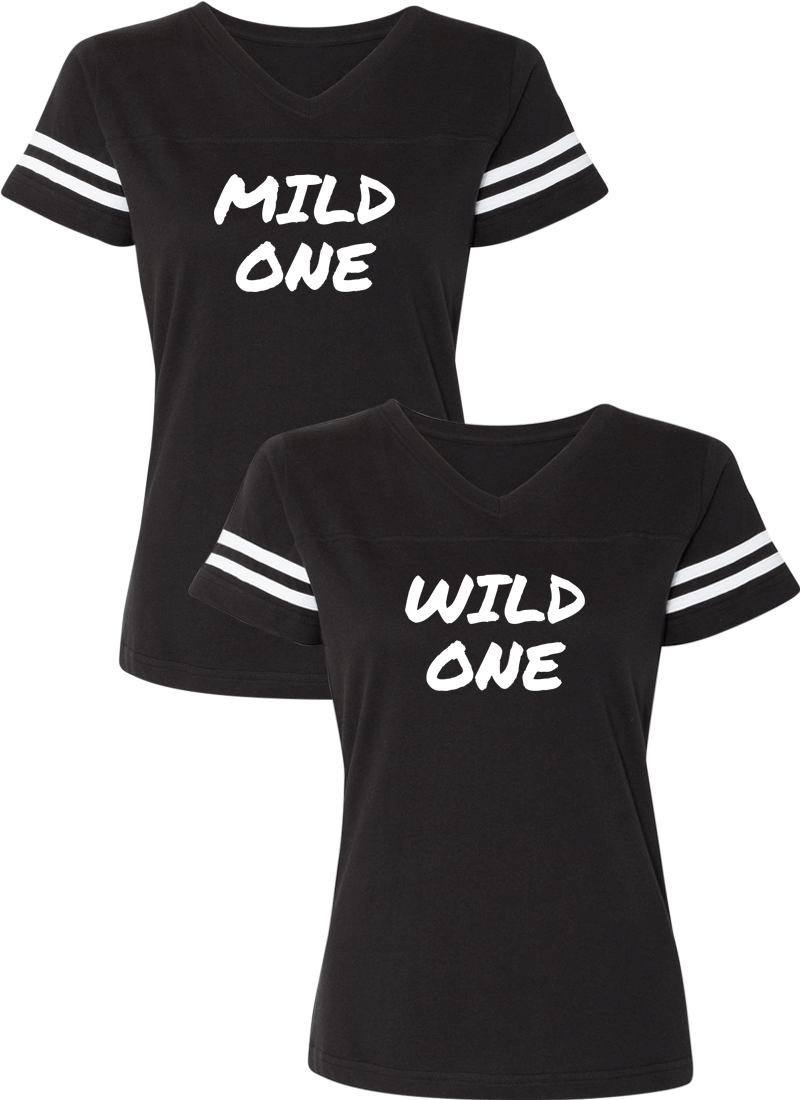 Mild & Wild One Best Friend BFF Matching Jersey