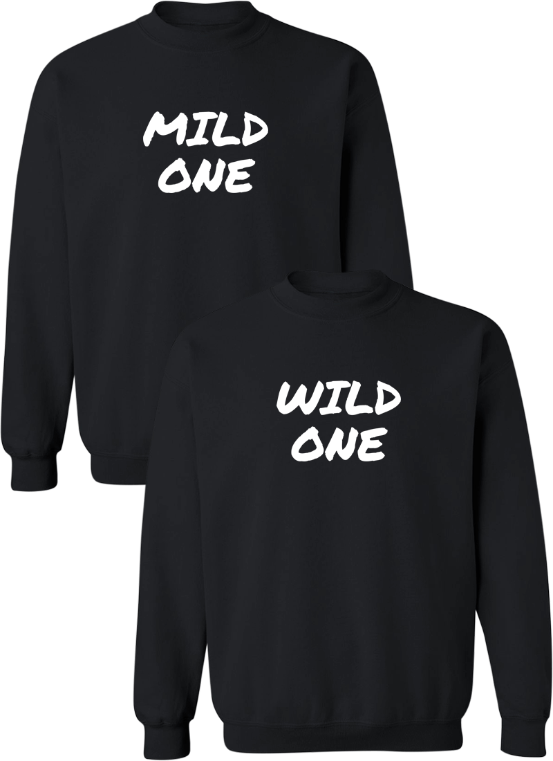 Mild & Wild One Best Friend BFF Matching Sweatshirts
