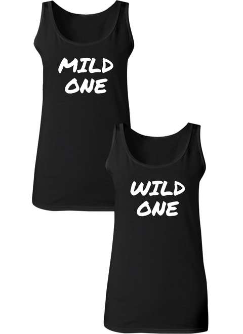 Mild & Wild One Best Friend BFF Matching Tanks