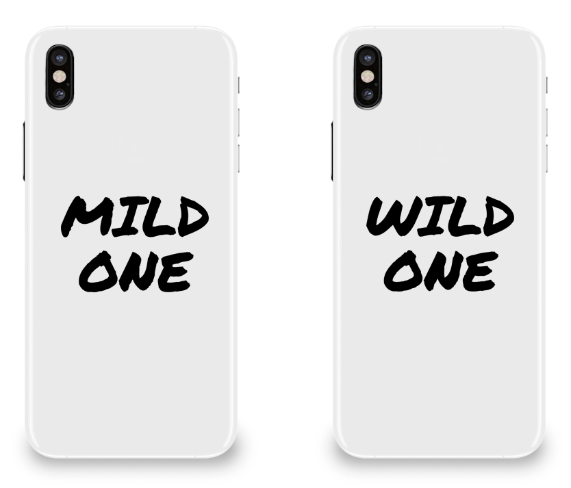 Mild & Wild One Best Friend - BFF Matching iPhone X Cases