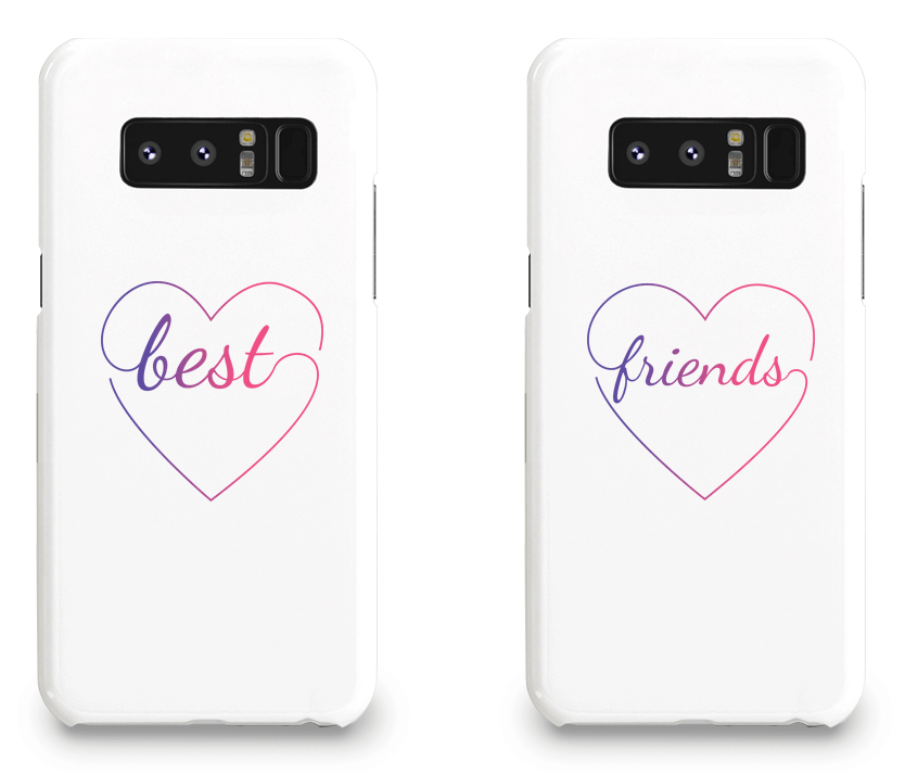 Colorful Hearts Best Friend - BFF Matching Phone Cases