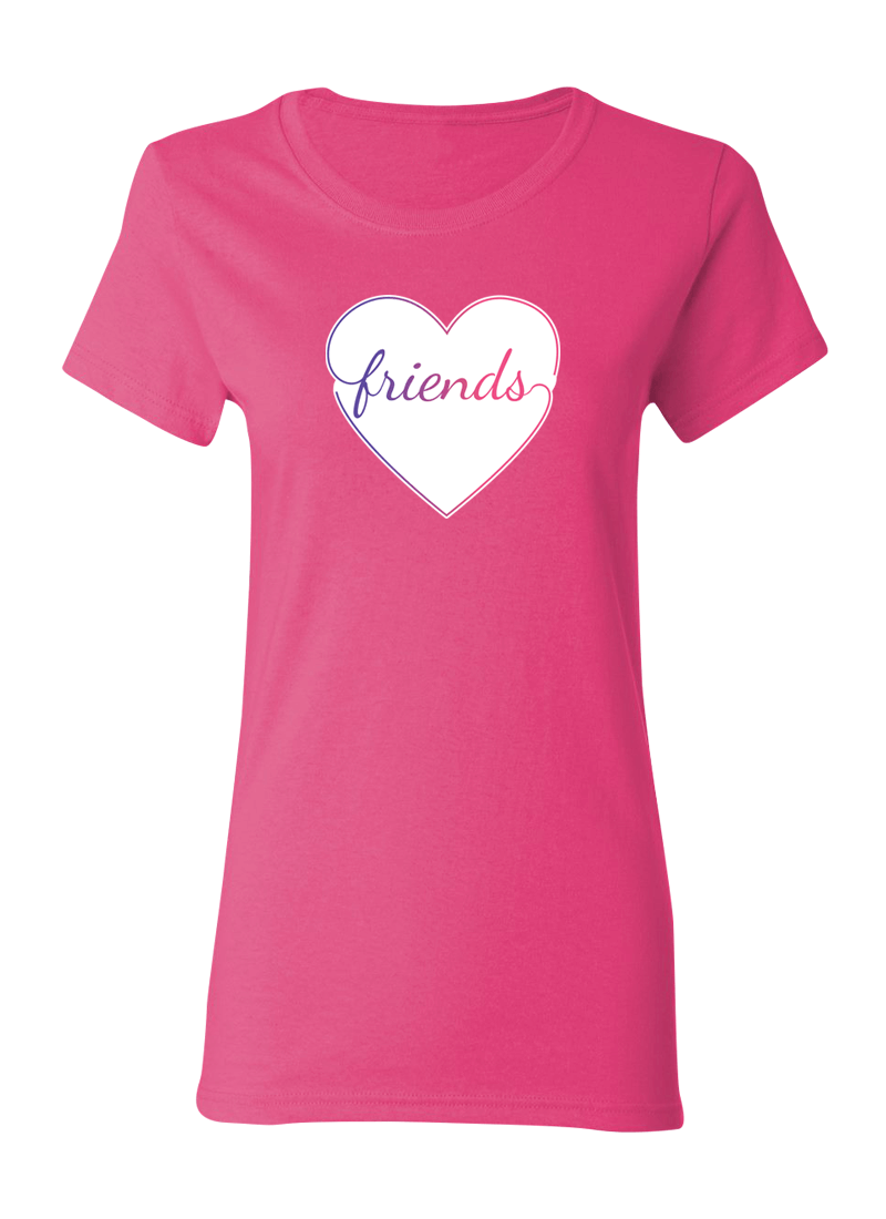 Colorful Hearts Best Friend - BFF Shirts