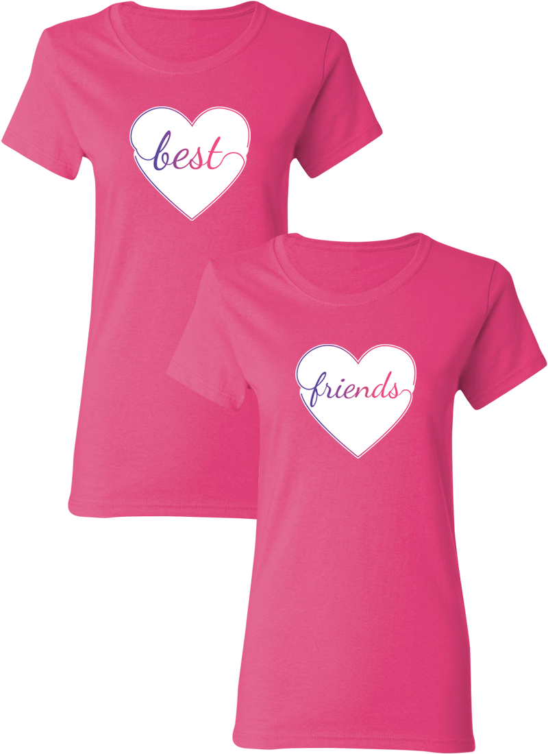 Colorful Hearts Best Friend BFF Matching Shirts