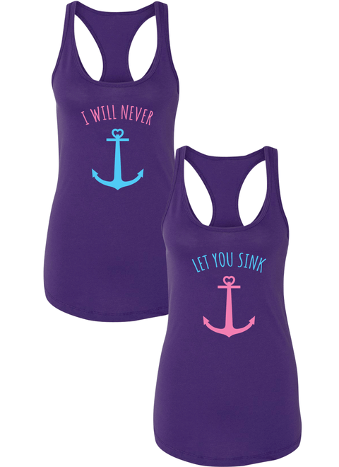 I Will Never Let You Sink Best Friend BFF Matching Racerbacks
