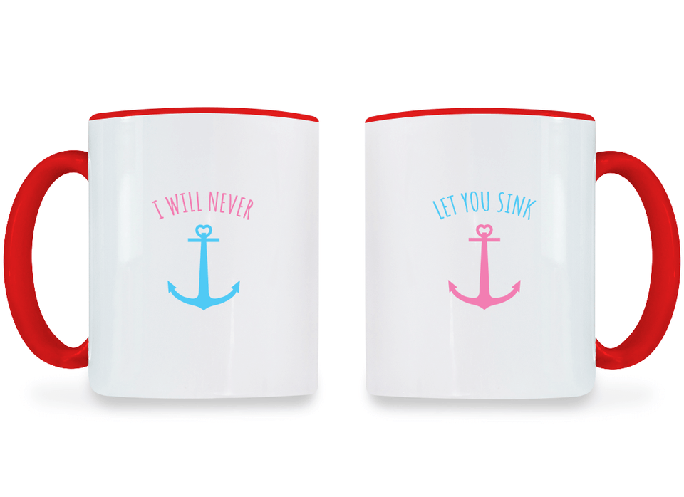I Will Never Let You Sink Best Friend - BFF Coffee Mugs