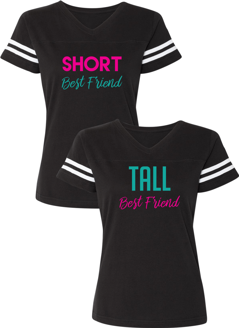 Short & Tall Best Friend BFF Matching Jersey