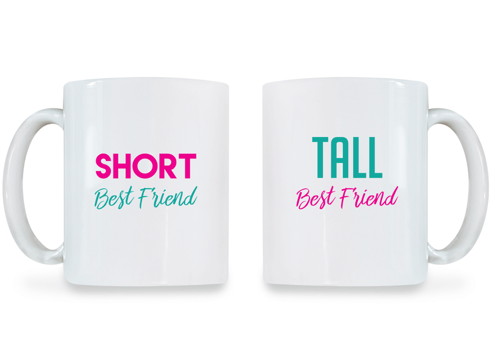 Short & Tall Best Friend - BFF Coffee Mugs