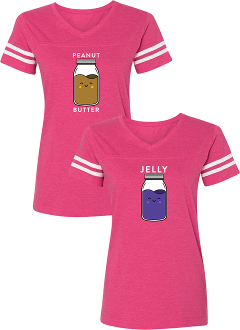 Peanut Butter & Jelly Best Friend BFF Matching Jersey