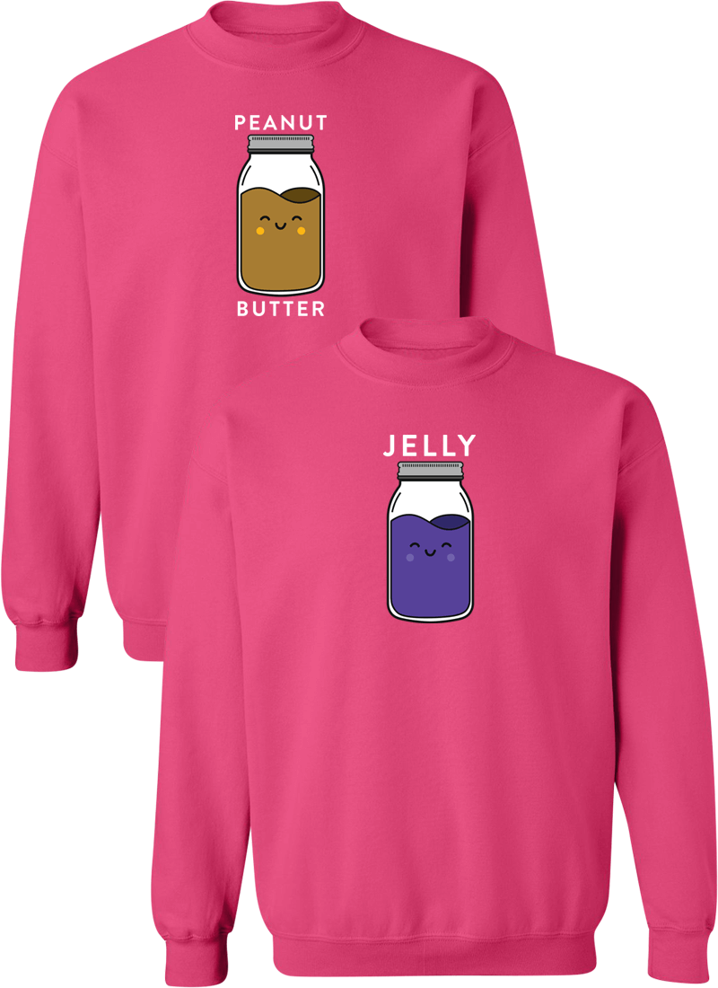 Peanut Butter & Jelly Best Friend BFF Matching Sweatshirts