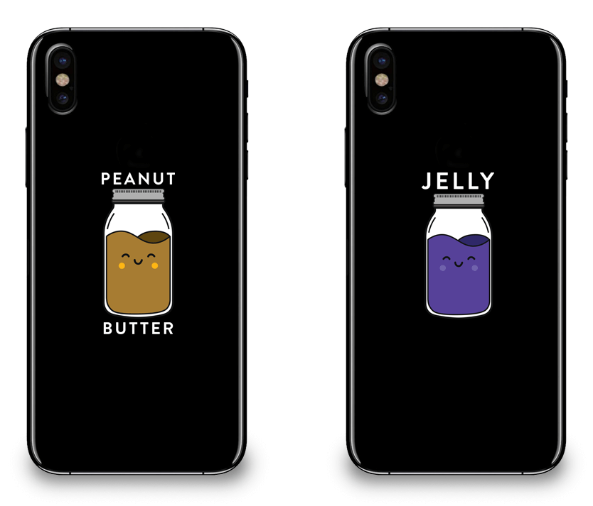 Peanut Butter & Jelly Best Friend - BFF Matching iPhone X Cases
