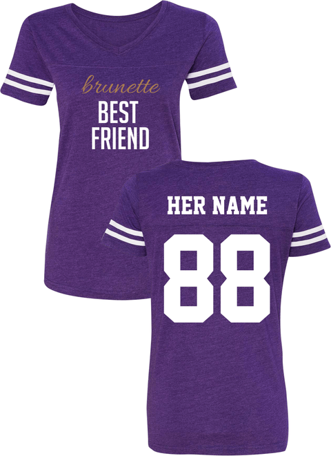 Blonde & Brunette Best Friend - BFF Cotton Jerseys