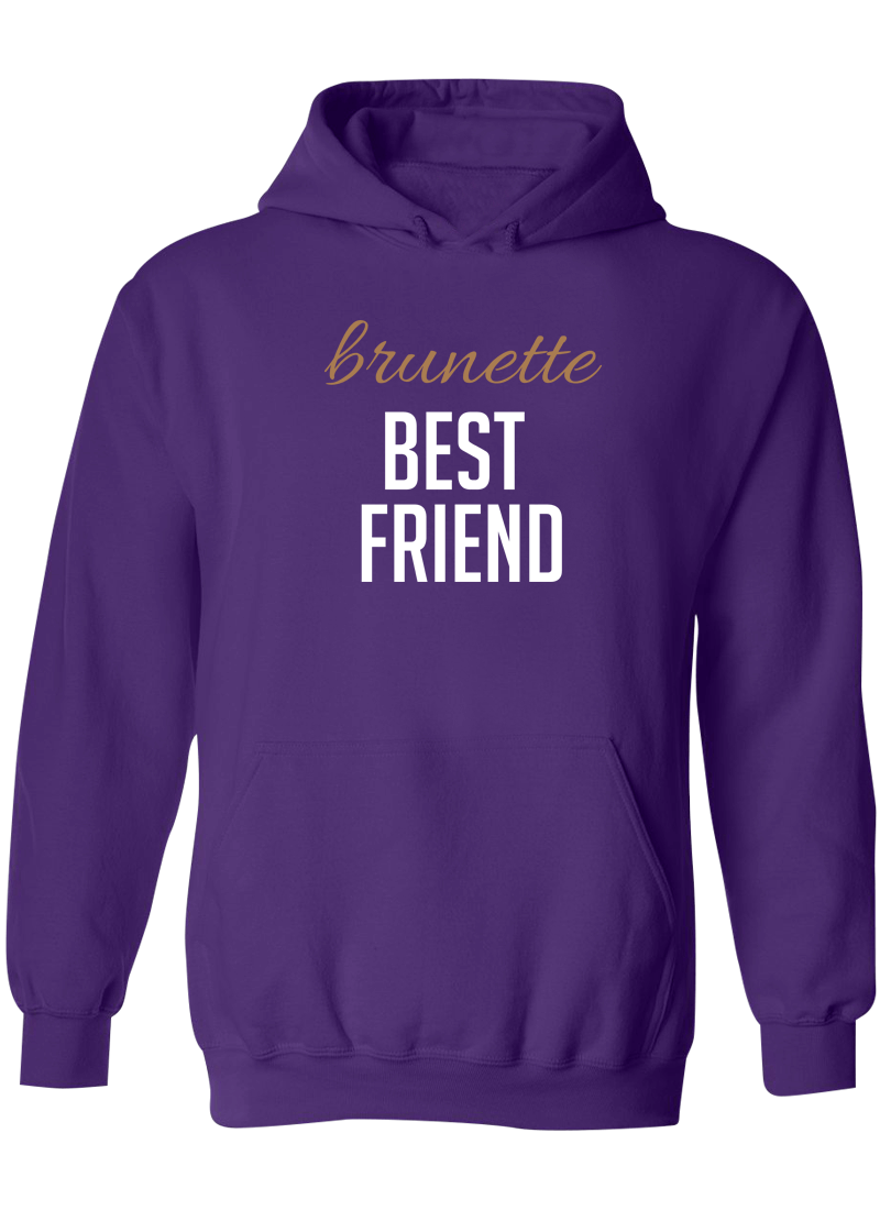 Blonde & Brunette Best Friend - BFF Hoodies