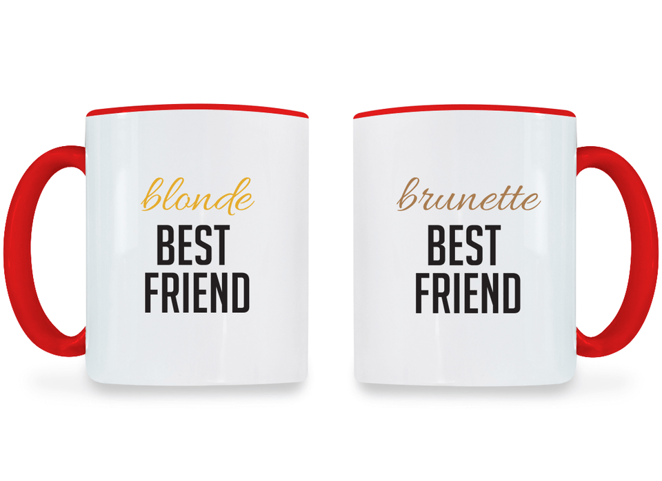 Blonde & Brunette Best Friend - BFF Coffee Mugs