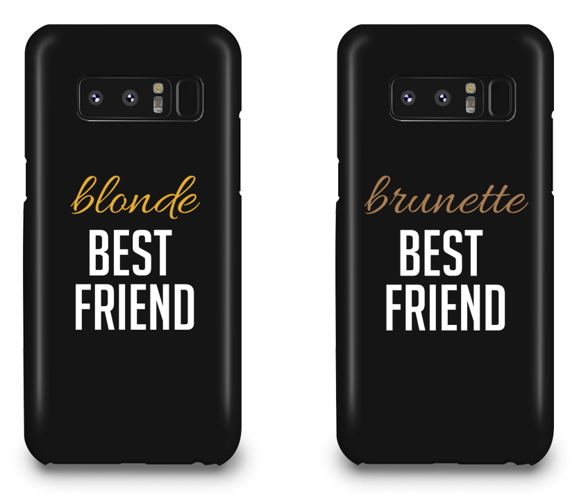 Blonde & Brunette Best Friend - BFF Matching Phone Cases