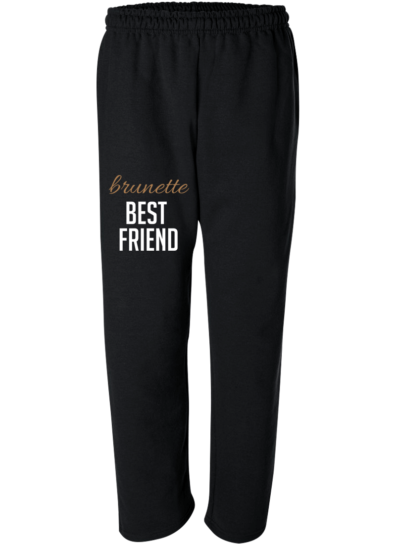 Blonde & Brunette Best Friend - Best Friend Forever Matching Sweatpants