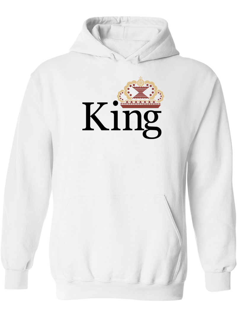 King & Queen - Couple Hoodies