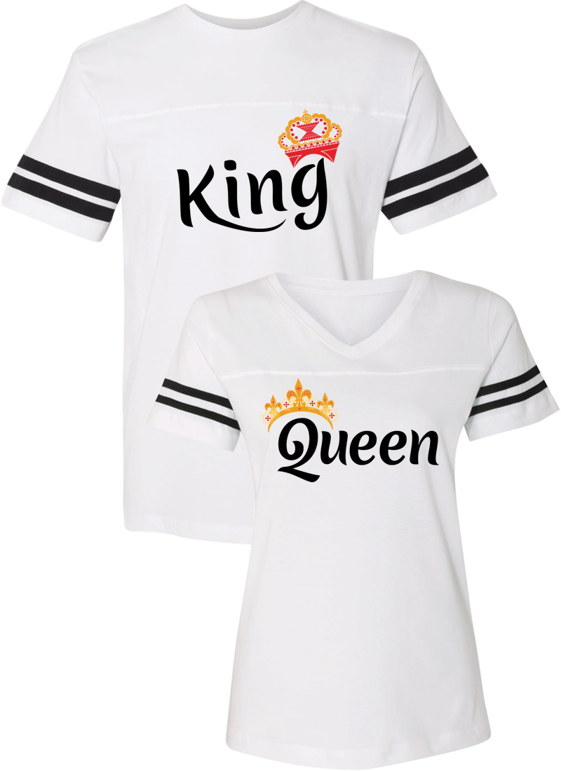 King & Queen Couple Sports Jersey