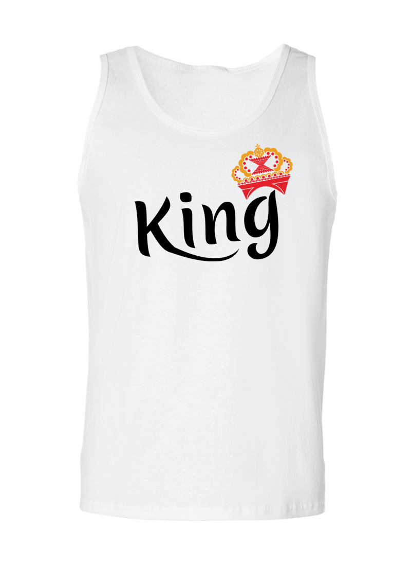 King & Queen - Couple Tank Tops