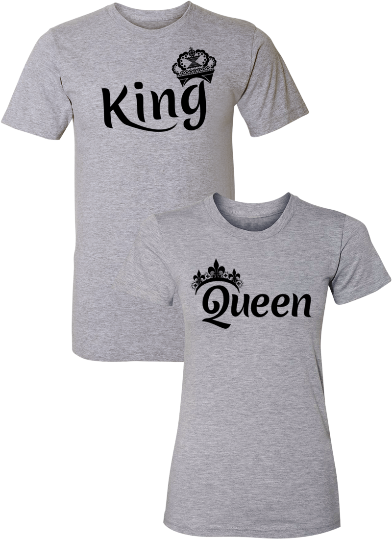 King & Queen Couple Matching Shirts