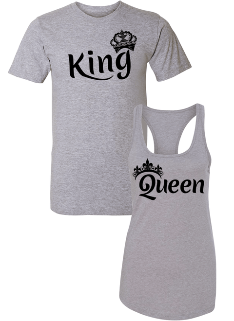 King & Queen - Couple Shirt Racerback