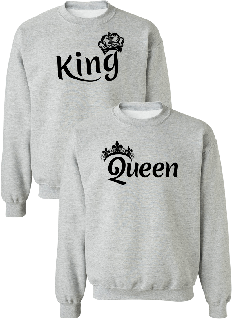 King & Queen Couple Matching Sweatshirts