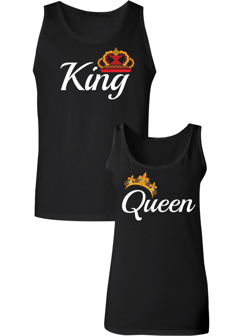 King & Queen Couple Tanks