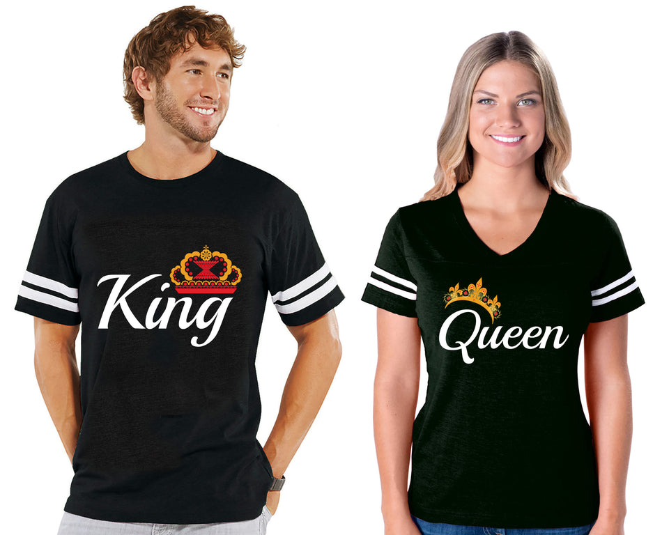 King & Queen - Couple Cotton Jerseys